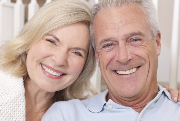Older couple with perfect teeth