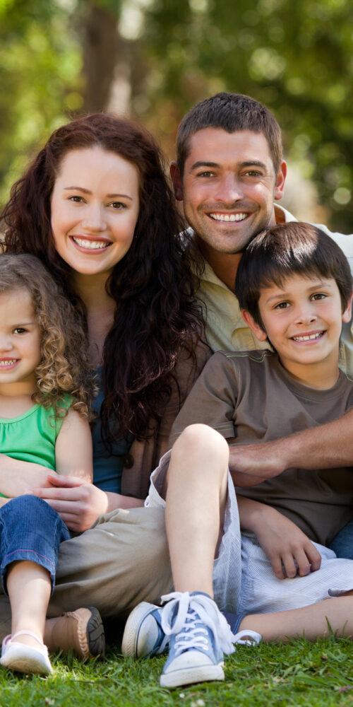 Happy family with beautiful teeth